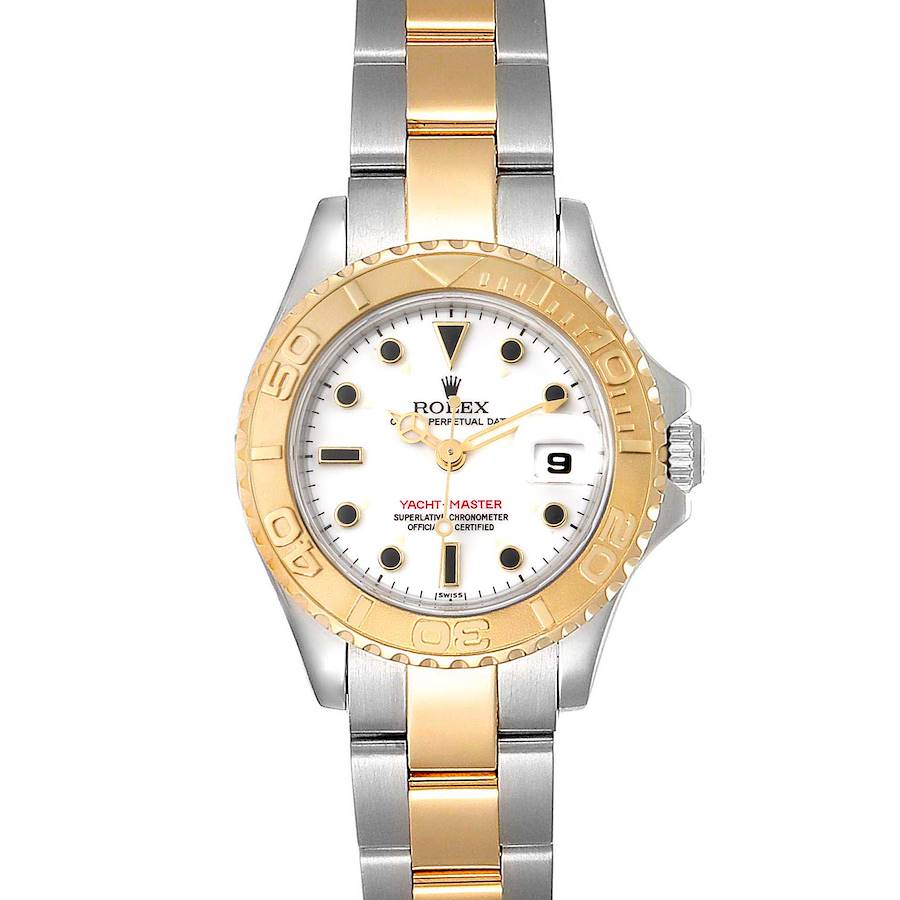 Rolex Yachtmaster 29mm White Dial Steel Yellow Gold Ladies Watch 69623 SwissWatchExpo