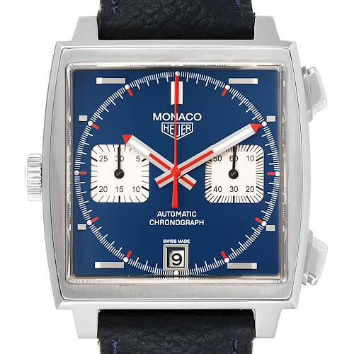 Photo of Tag Heuer Monaco 40th Anniversary Limited Blue Dial Mens Watch CAW211A