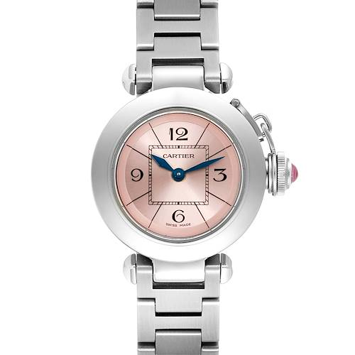 Photo of Cartier Miss Pasha Steel Pink Dial Quartz Ladies Watch W3140008