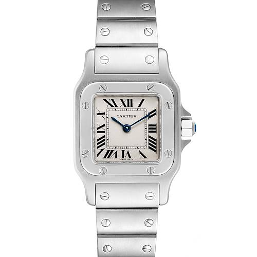 Photo of Cartier Santos Galbee Silver Dial Small Steel Ladies Watch W20056D6