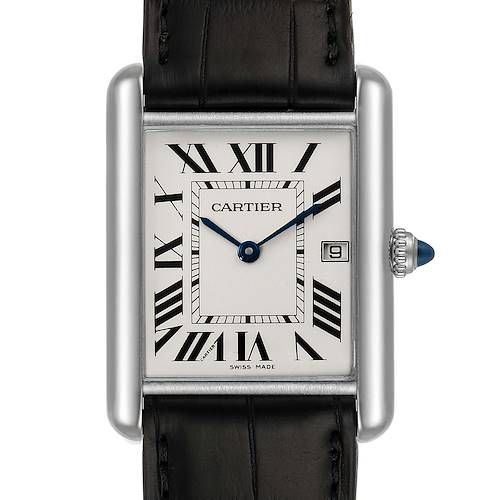 Photo of Cartier Tank Louis Large White Gold Unisex Watch W1540956 Box Papers