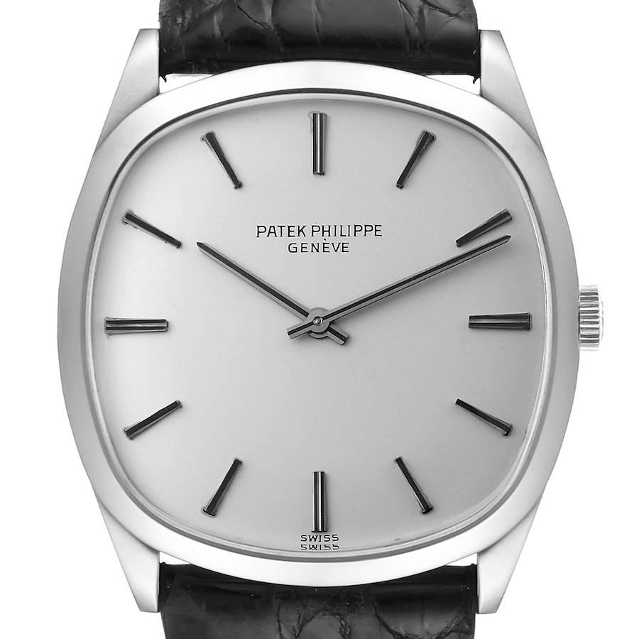 Patek Philippe 18k White Gold Silver Dial Vintage Mens Watch 3544 SwissWatchExpo