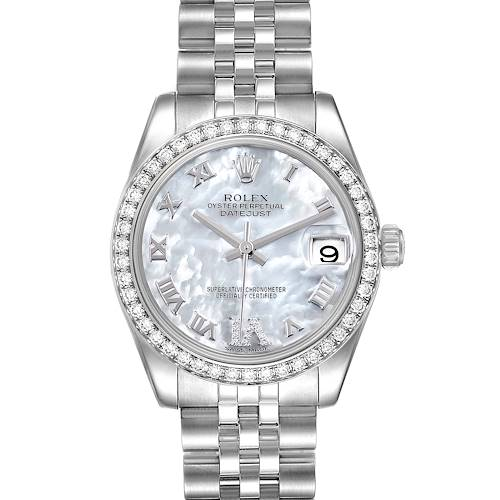 Photo of Rolex Datejust Midsize Steel MOP Diamond Ladies Watch 178384