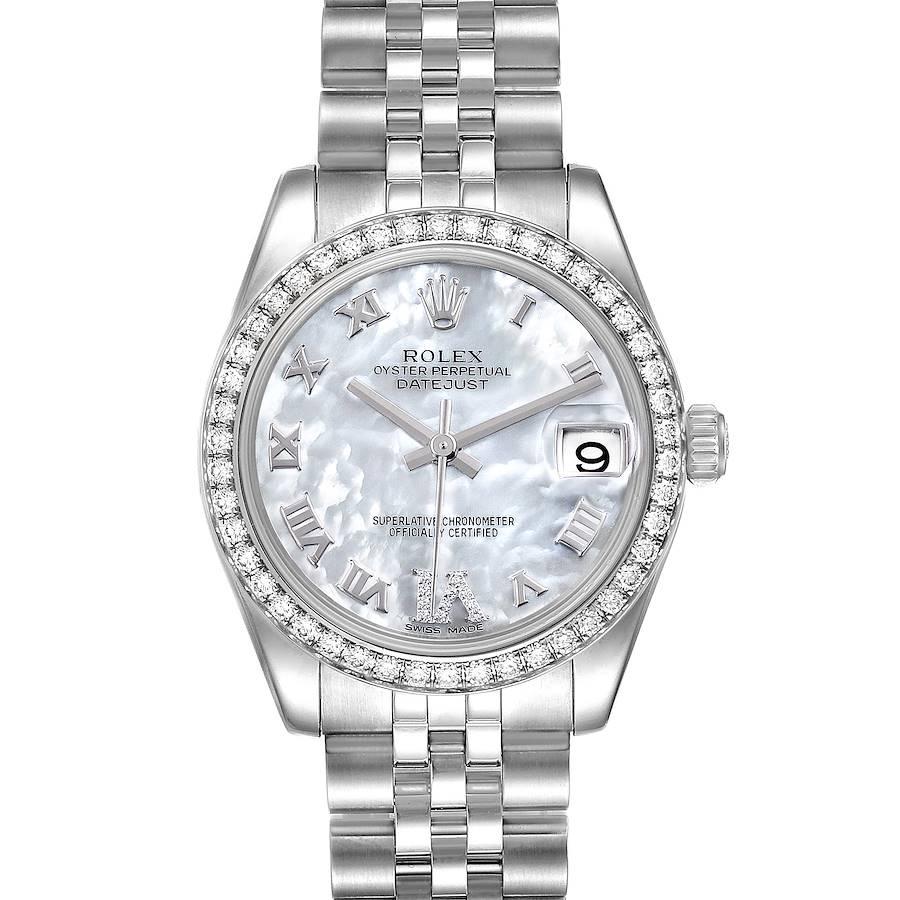 Rolex Datejust Midsize Steel MOP Diamond Ladies Watch 178384 SwissWatchExpo