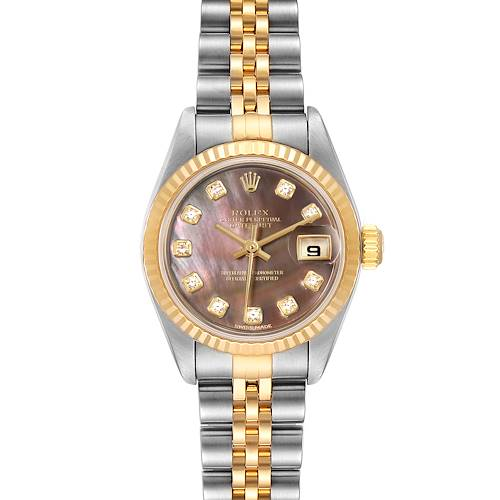 Photo of Rolex Datejust Steel Yellow Gold MOP Diamond Ladies Watch 79173