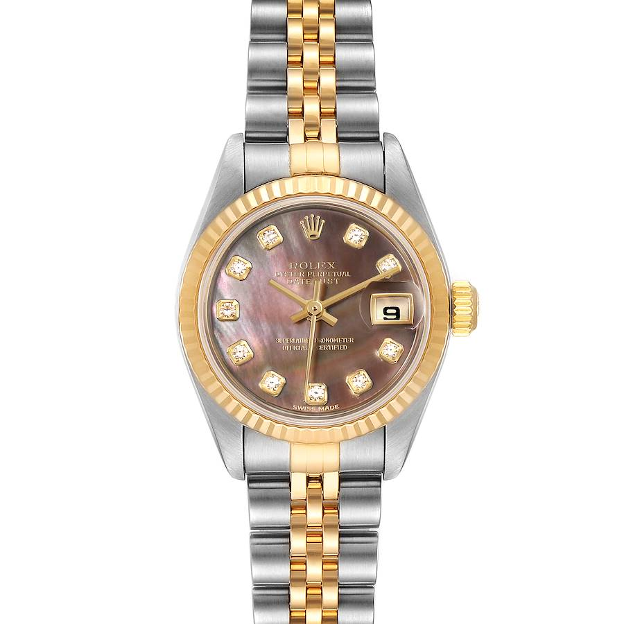 Rolex Datejust Steel Yellow Gold MOP Diamond Ladies Watch 79173 SwissWatchExpo