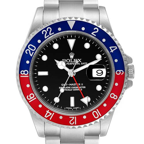 Photo of Rolex GMT Master II Error Dial Pepsi Bezel Steel Mens Watch 16710 Tag
