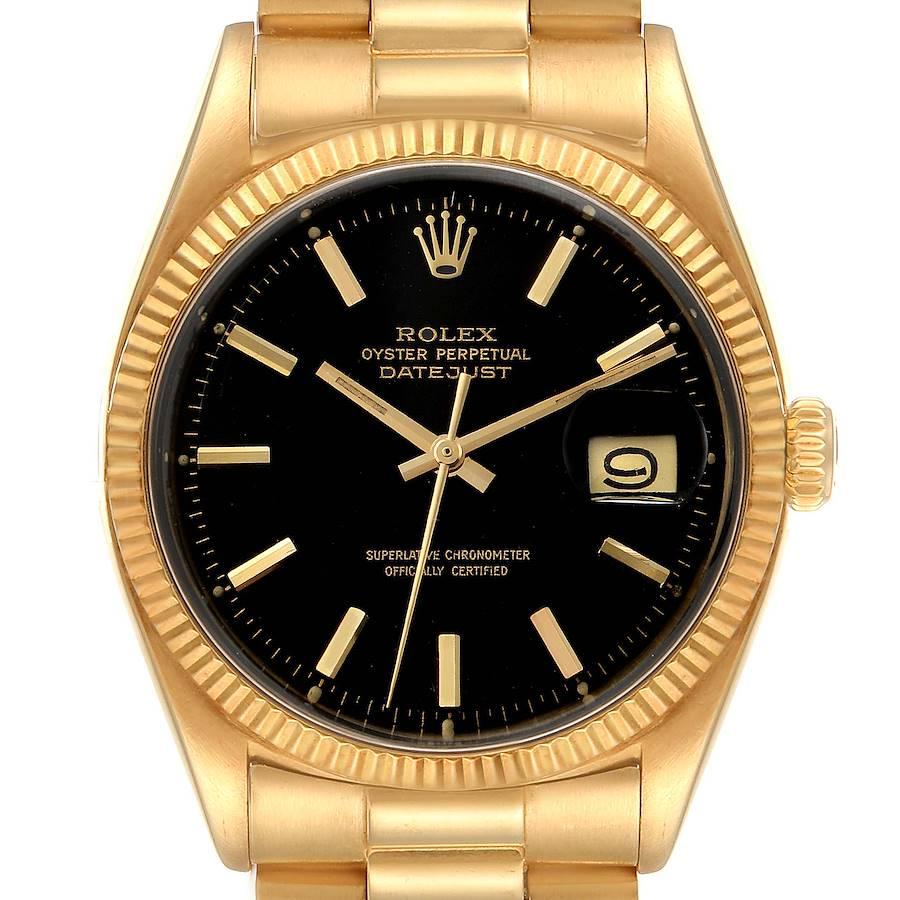 Rolex President Datejust 18k Yellow Gold Vintage Mens Watch 1601 SwissWatchExpo