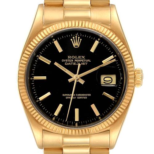 Photo of Rolex President Datejust 18k Yellow Gold Vintage Mens Watch 1601