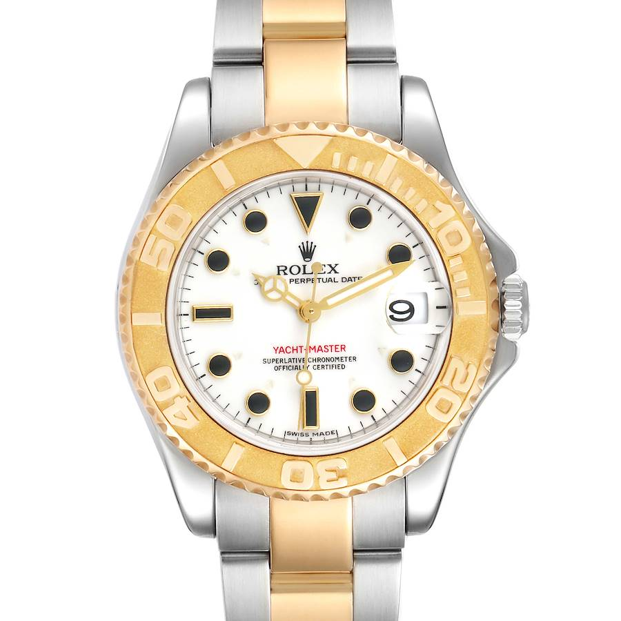 Rolex Yachtmaster 35 Midsize Steel Yellow Gold Unisex Watch 168623 Box SwissWatchExpo