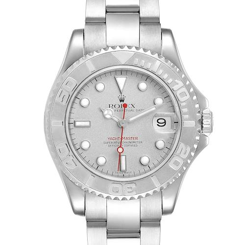 Photo of Rolex Yachtmaster 35mm Midsize Steel Platinum Mens Watch 168622