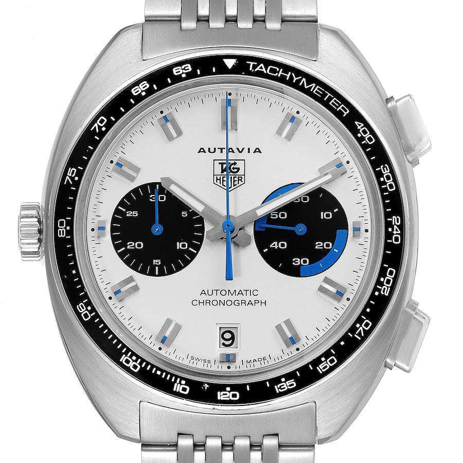 Tag Heuer Autavia Automatic Chronograph Steel Mens Watch CY2110 SwissWatchExpo