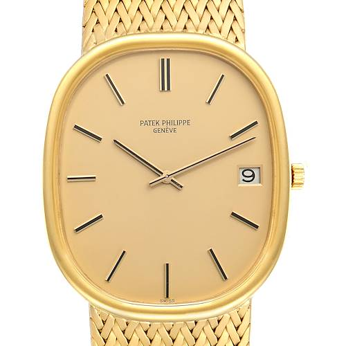 Photo of Patek Philippe Golden Ellipse Jumbo 18k Yellow Gold Mens Watch 3605