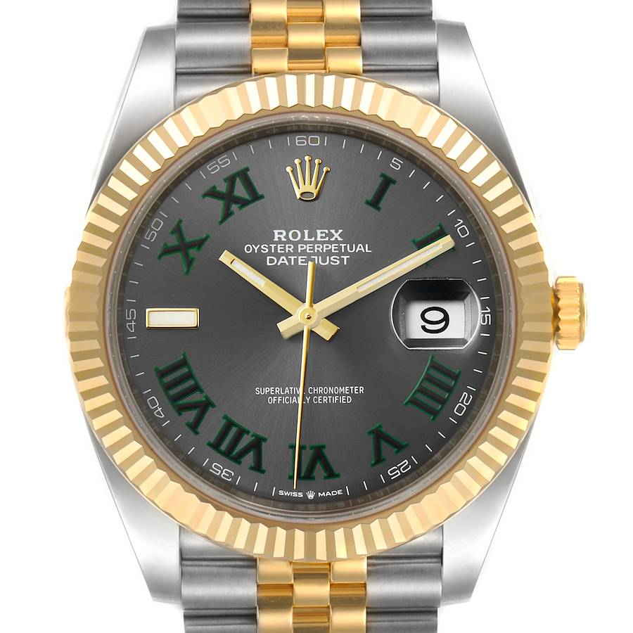 Rolex Datejust 41 Steel Yellow Gold Wimbledon Mens Watch 126333 Unworn SwissWatchExpo