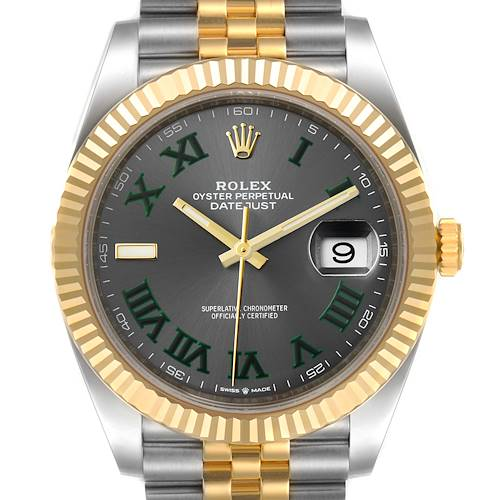 Rolex Datejust 41 Steel Yellow Gold Wimbledon Mens Watch 126333 Unworn