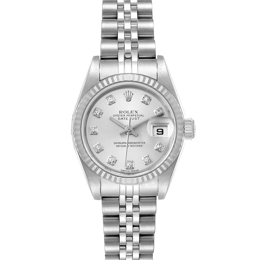 Rolex Datejust Steel White Gold Diamond Ladies Watch 79174 Papers SwissWatchExpo