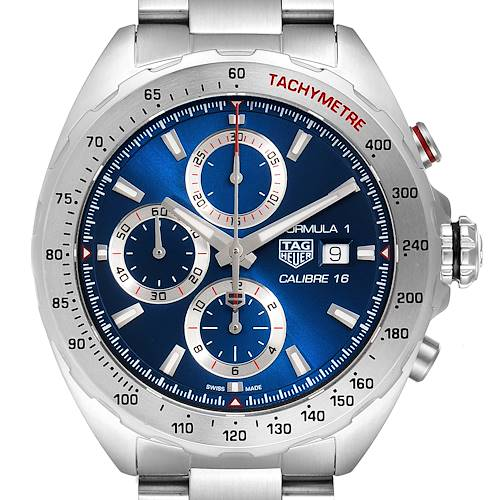 Photo of Tag Heuer Formula 1 Chronograph Blue Dial Steel Mens Watch CAZ2015 Card