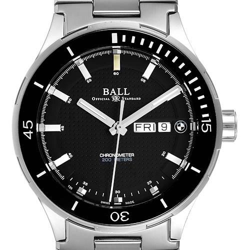 Ball Roadmaster BMW Timetrekker Black Dial Steel Mens Watch DM3010B