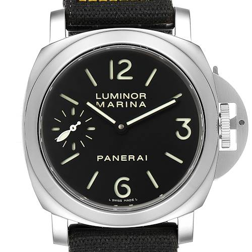 Photo of Panerai Luminor Marina 44mm Steel Mens Watch PAM00111 Box Papers
