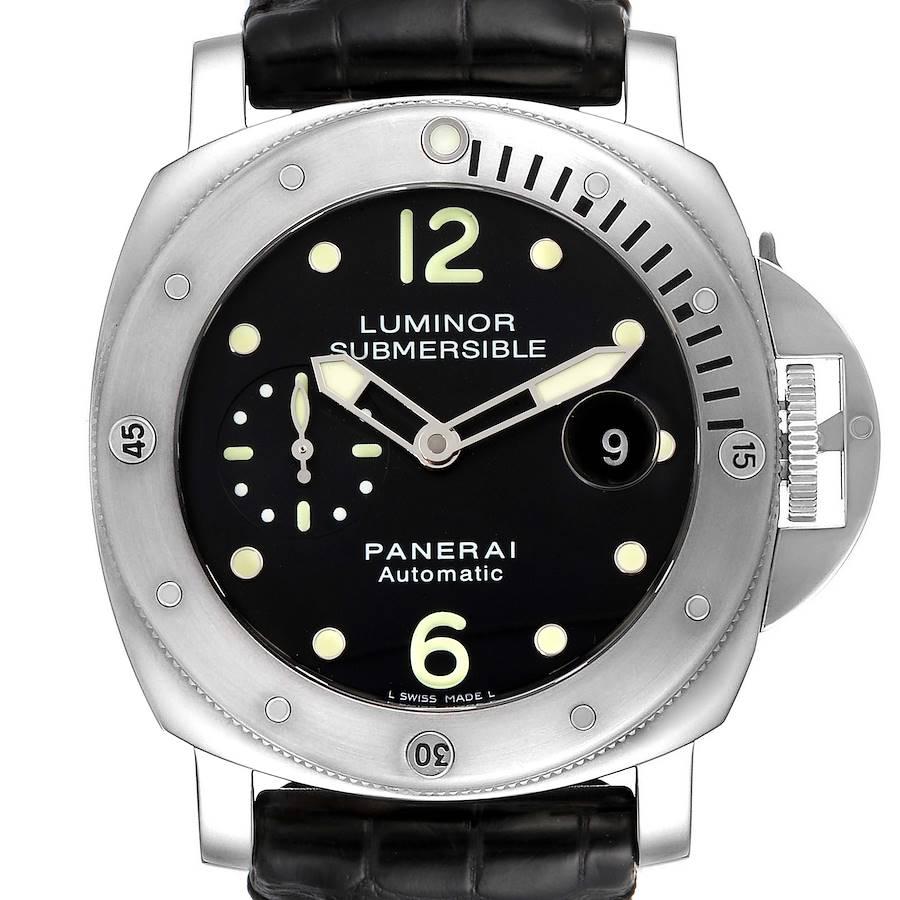 Panerai Luminor Submersible 44mm Steel Mens Watch PAM00024 SwissWatchExpo