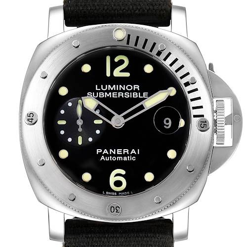Photo of Panerai Luminor Submersible 44mm Steel Mens Watch PAM00024 Box Papers