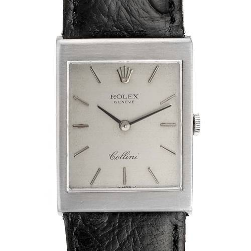 Photo of Rolex Cellini 18K White Gold Silver Dial Mens Vintage Watch 4014