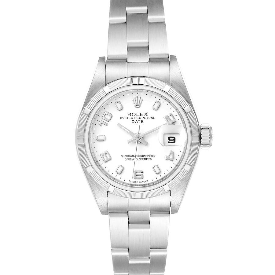 Rolex Date White Dial Oyster Bracelet Steel Ladies Watch 79190 SwissWatchExpo