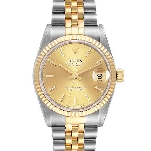 Photo of Rolex Datejust Midsize 31mm Steel Yellow Gold Ladies Watch 68273