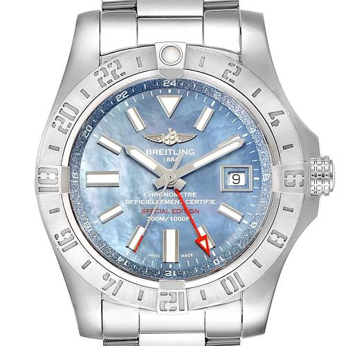 Photo of Breitling Aeromarine Avenger II GMT Blue MOP Dial Watch A32390