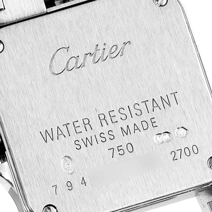 Cartier Santos Demoiselle White Gold Diamond Ladies Watch WF9005Y8 SwissWatchExpo