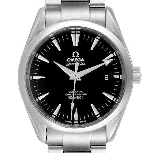 Photo of Omega Seamaster Aqua Terra Black Dial Steel Mens Watch 2503.50.00