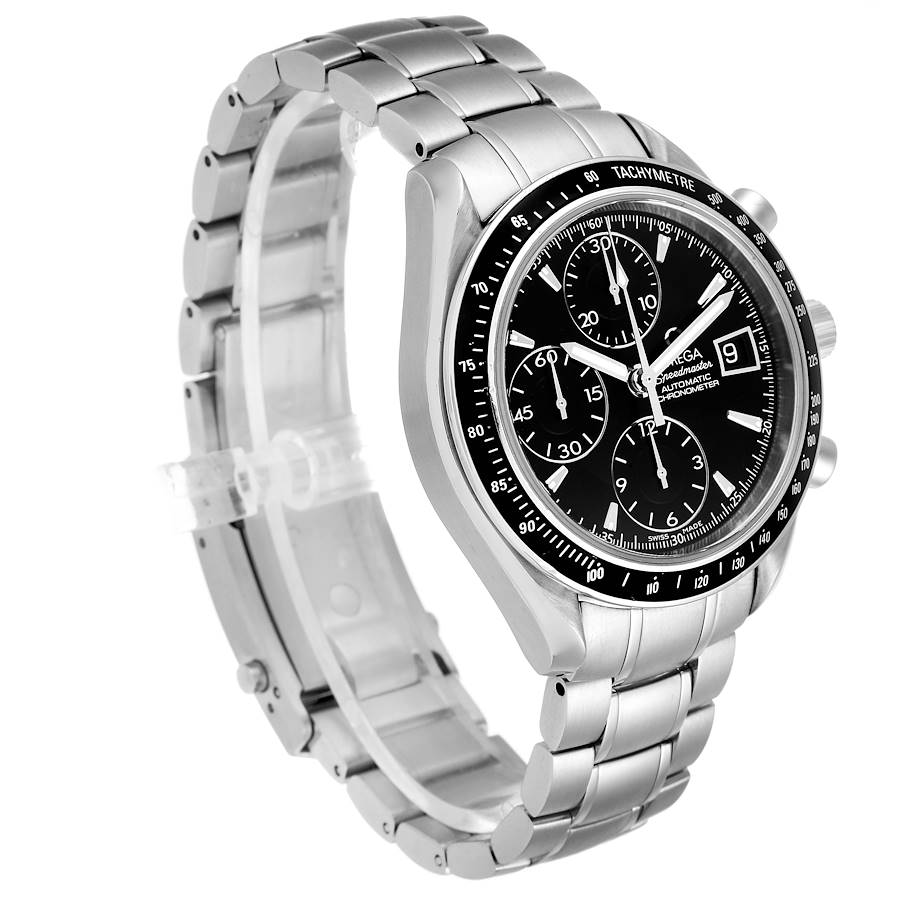 Omega Speedmaster Chronograph Black Dial Mens Watch 3210.50.00 SwissWatchExpo