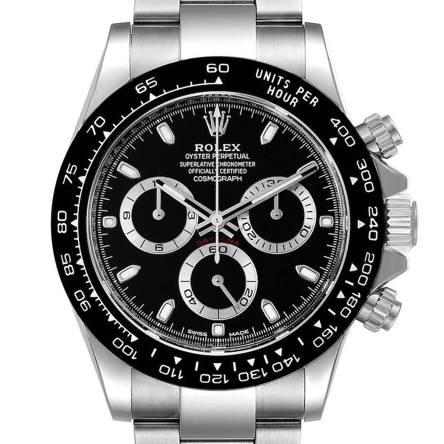 Rolex Cosmograph Daytona Ceramic Bezel Black Dial Watch 116500 Box Card SwissWatchExpo