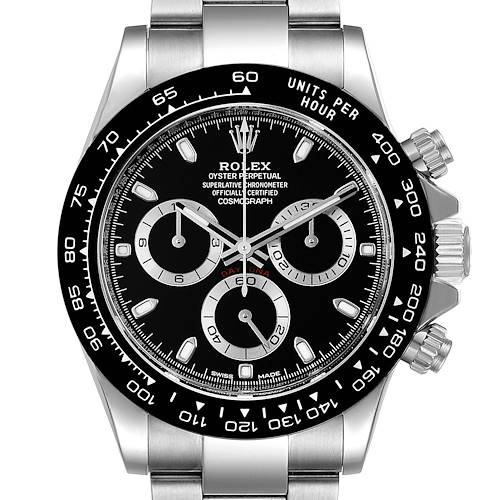 Photo of Rolex Cosmograph Daytona Ceramic Bezel Black Dial Watch 116500 Box Card