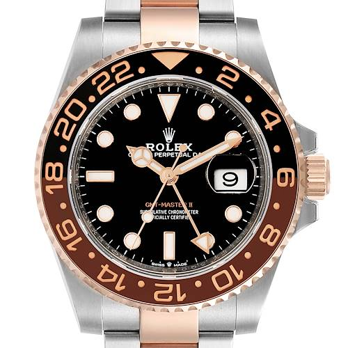 Photo of Rolex GMT Master II Steel Everose Gold Mens Watch 126711 Box Card
