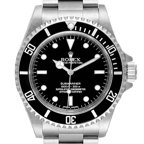 Photo of Rolex Submariner 40mm Non-Date 2 Liner Steel Mens Watch 14060 Unworn