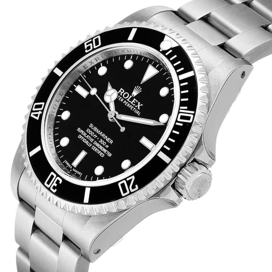 Rolex Submariner 40mm Non-Date  Steel Mens Watch 14060 Unworn SwissWatchExpo