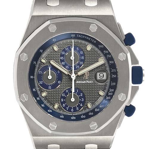 Photo of Audemars Piguet Royal Oak Offshore Chronograph Titanium Mens Watch 25721TI
