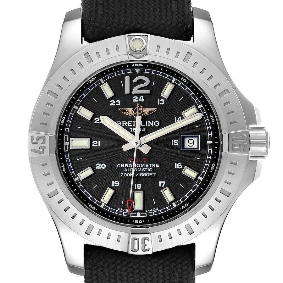 Breitling Colt Black Dial Automatic Steel Mens Watch A17388 SwissWatchExpo