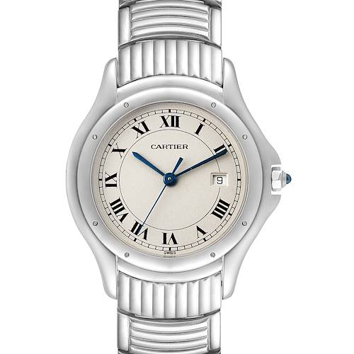 Photo of Cartier Santos Ronde Silver Dial Steel Unisex Watch W20027K1