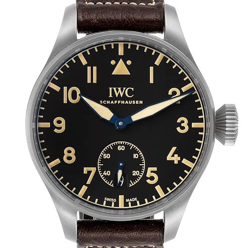 Photo of IWC Big Pilot Heritage Black Dial Titanium Mens Watch IW510301 Box Papers