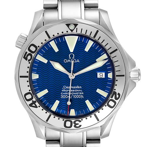 Photo of Omega Seamaster 300M Blue Dial Steel Mens Watch 2255.80.00