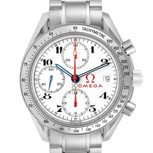 Photo of Omega Speedmaster White Dial Olympic Chronograph Mens Watch 3515.20.00