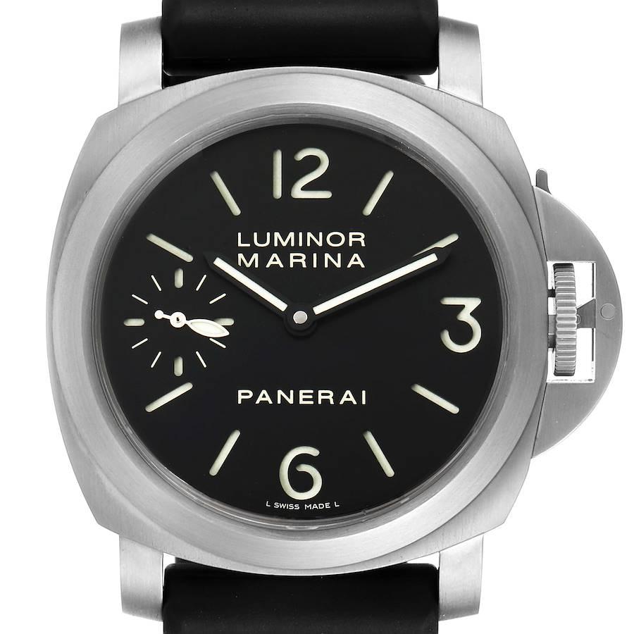 Panerai Luminor Marina 44mm Titanium Black Dial Mens Watch PAM00177 SwissWatchExpo
