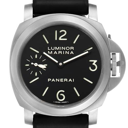 Photo of Panerai Luminor Marina 44mm Titanium Black Dial Mens Watch PAM00177