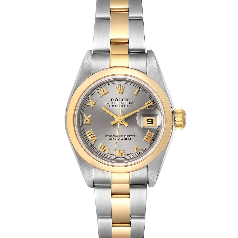 Rolex Datejust Steel Yellow Gold Slate Dial Ladies Watch 79163 SwissWatchExpo