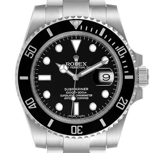 Photo of Rolex Submariner Ceramic Bezel Steel Mens Watch 116610 Box Card