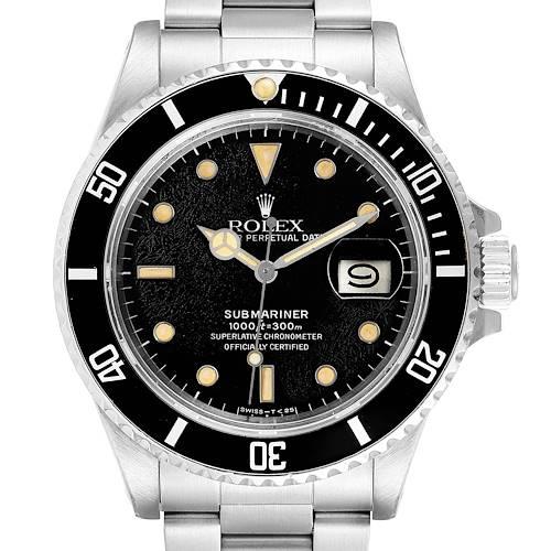 Photo of Rolex Submariner Spider Dial Steel Vintage Mens Watch 168000
