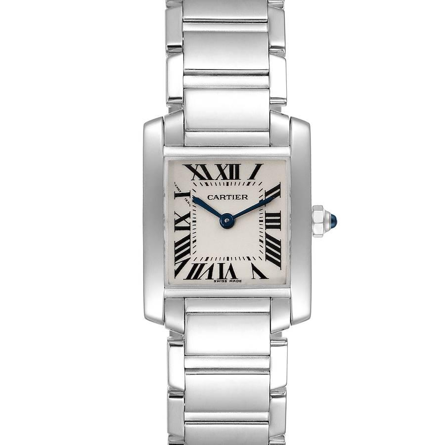 Cartier Tank Francaise White Gold Quartz Ladies Watch W50012S3 Box SwissWatchExpo