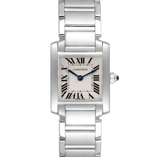 Photo of Cartier Tank Francaise White Gold Quartz Ladies Watch W50012S3 Box